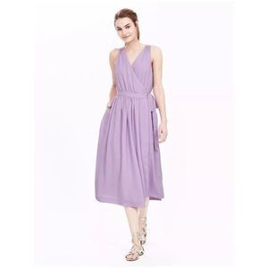 Sleeveless Cross-Front Midi Dress Summer lilac 14